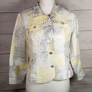 Ruby Rd Women's Embroidered  Jacket  Size 6P